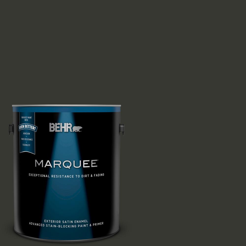 1 gal. #N520-7 Carbon Satin Enamel Exterior Paint and Primer in One