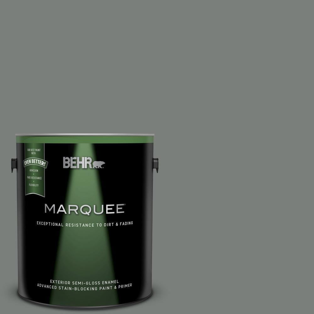 1 gal. #MQ6-20 Coastal Storm Semi-Gloss Enamel Exterior Paint and Primer in One