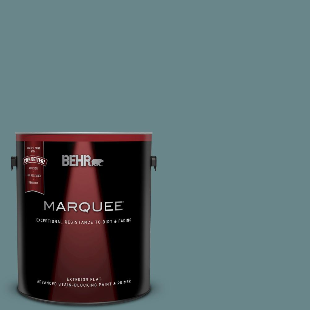 1 gal. #MQ6-03 Winter in Paris Flat Exterior Paint and Primer in One