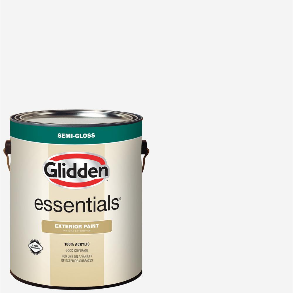 1 gal. White/Base 1 Semi-Gloss Exterior Paint