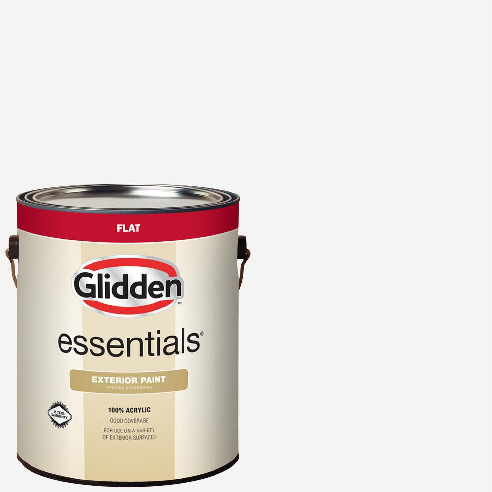 1 gal. White/Base 1 Flat Exterior Paint