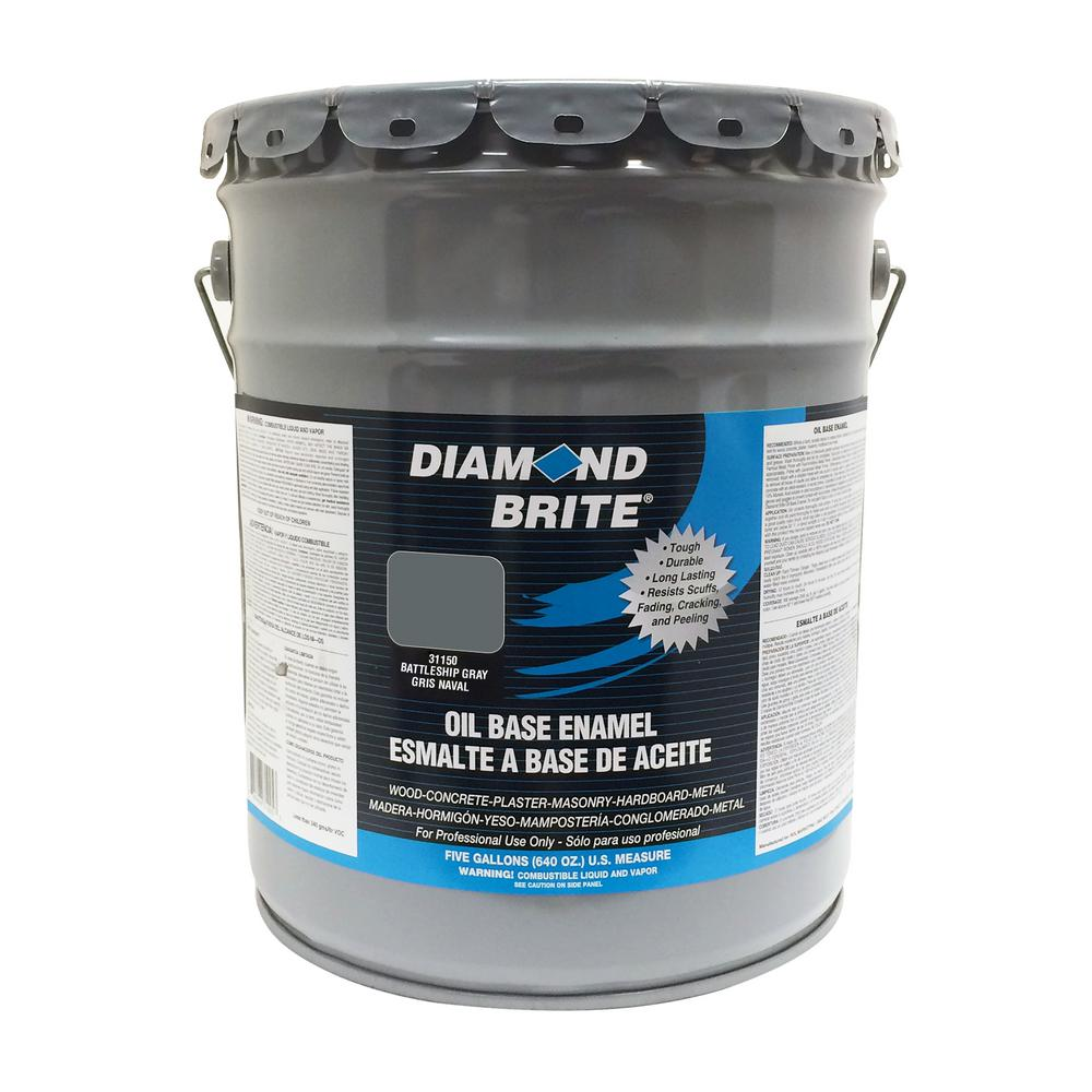 5 gal. Battleship Gray Oil Base Enamel Interior/Exterior Paint