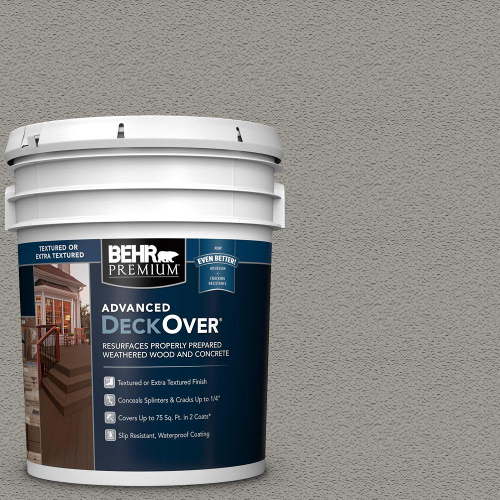 5 gal. #SC-137 Drift Gray Textured Solid Color Exterior Wood and Concrete Coating