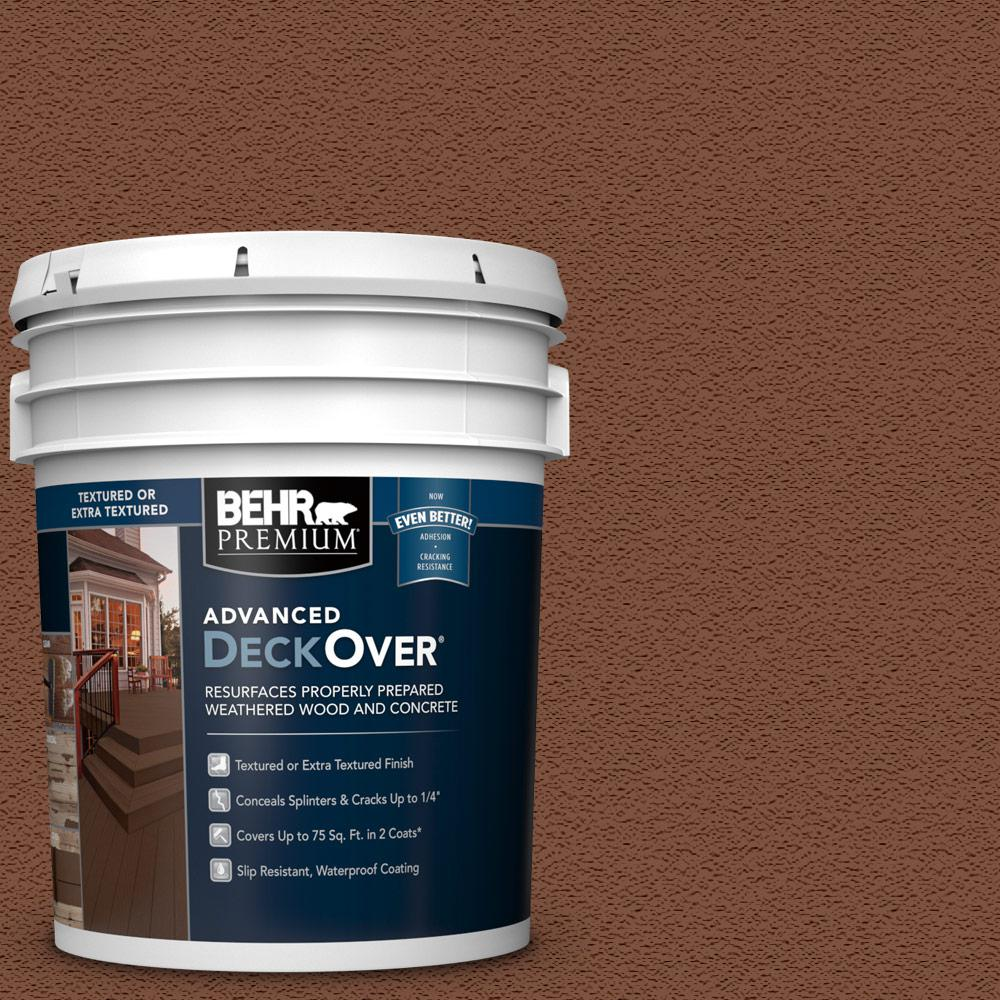 5 gal. #SC-142 Cappuccino Textured Solid Color Exterior Wood and Concrete Coating