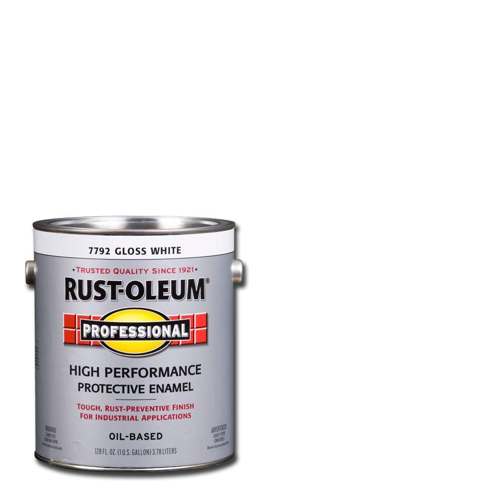 1 gal. High Performance Protective Enamel Gloss White Oil-Based Interior/Exterior Industrial Paint (2-Pack)
