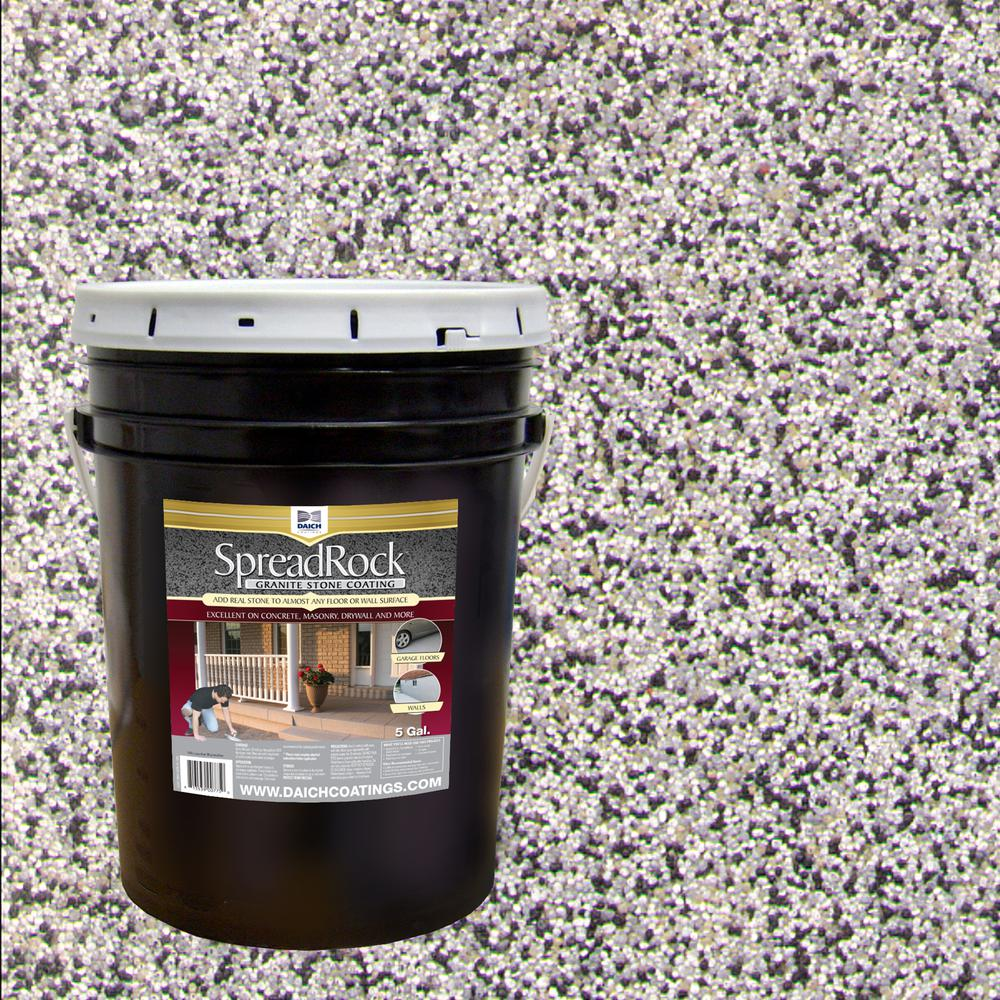 Granite Stone Coating 5 gal. Flint Gray Satin Interior/Exterior Concrete Resurfacer and Sealer