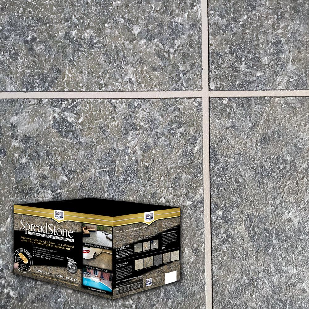 SpreadStone 10 gal. LakeRock Satin Interior/Exterior 400 sq.ft. Decorative Concrete Resurfacing Kit