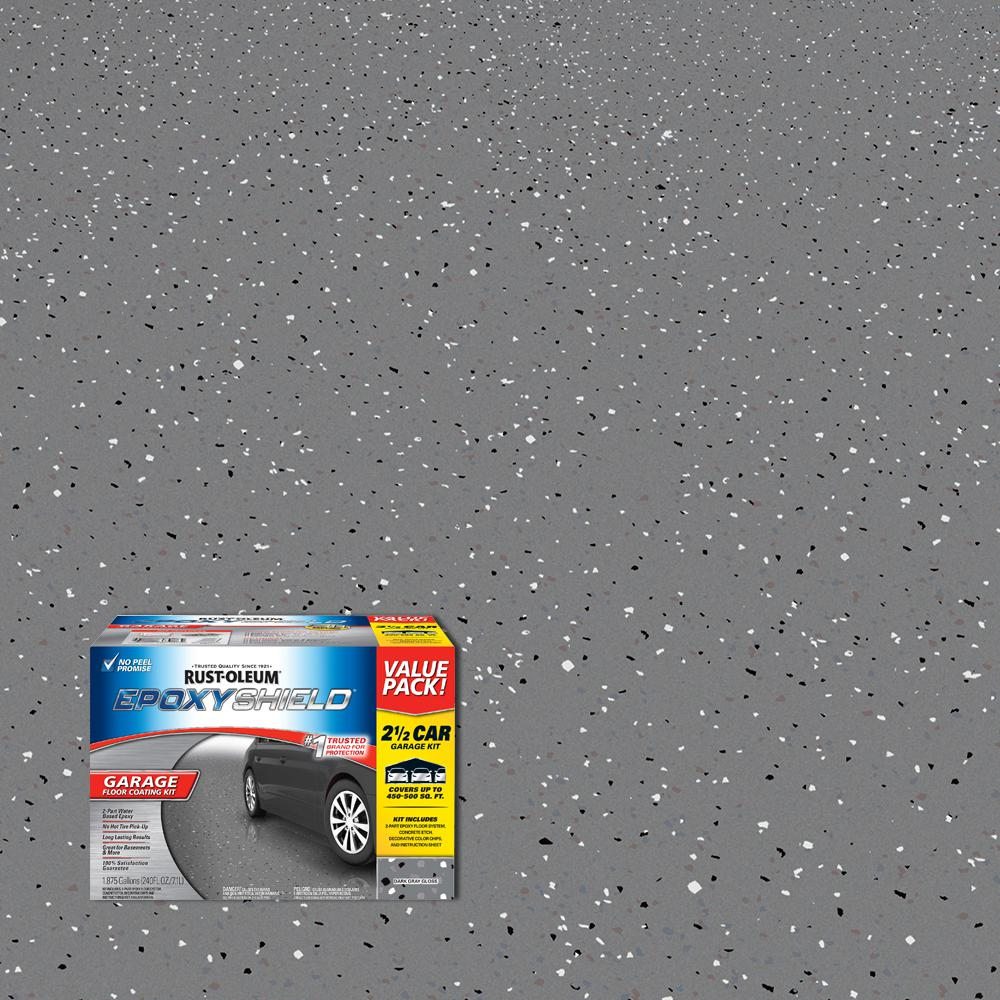 240 oz. Dark Gray Gloss 2.5 Car Garage Floor Kit