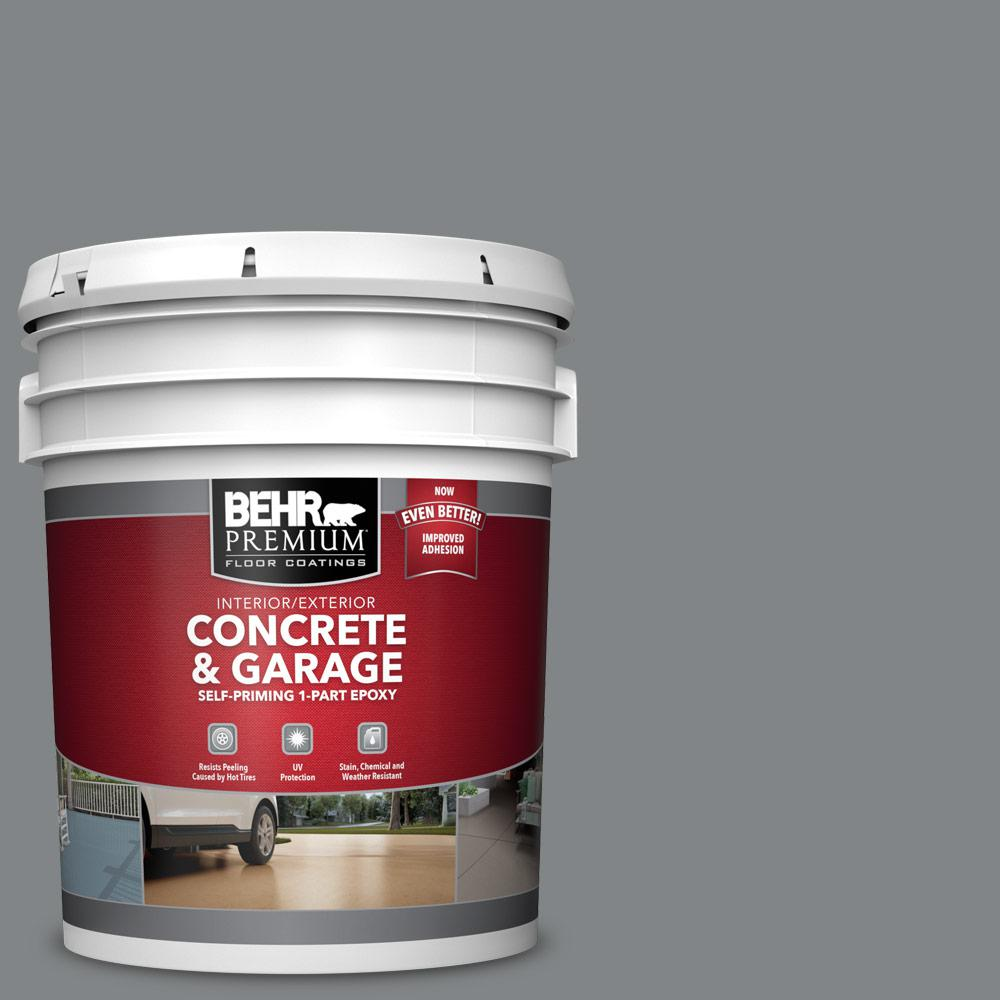 5 gal. #PFC-63 Slate Gray 1-Part Epoxy Satin Interior/Exterior Concrete and Garage Floor Paint