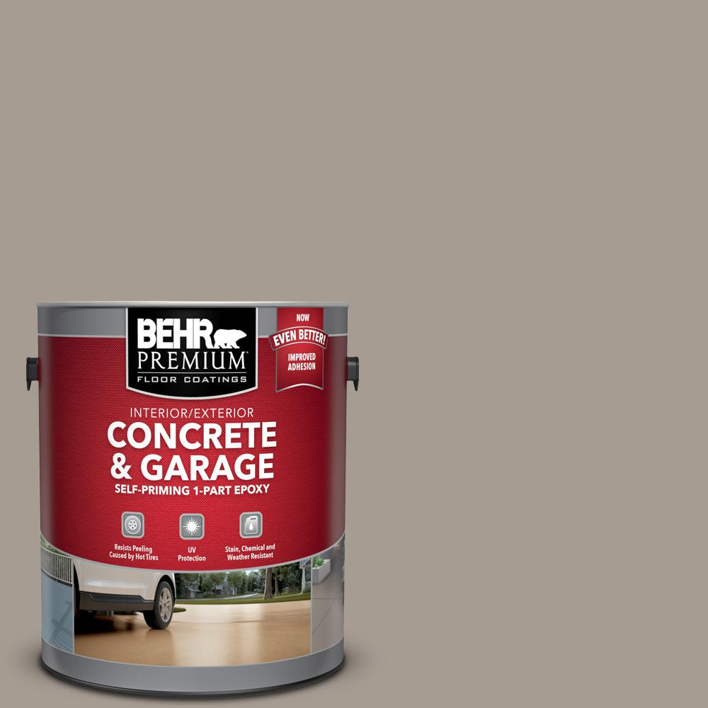 1 gal. #N200-4 Rustic Taupe Self-Priming 1-Part Epoxy Satin Interior/Exterior Concrete and Garage Floor Paint